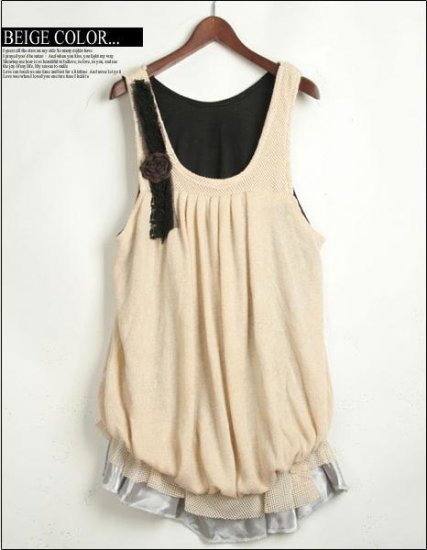Korean Style One piece Bubble Dress / Shirt