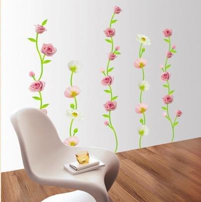 WDS-05 Pretty Flowers Wall Decor Art Adhesive Sticker - Free shipping