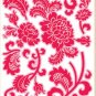 PS58013 Graffiti Flowers Wall Decor Art Adhesive Sticker