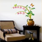 WDS-002 Butterfly & Flowers Wall Decor Art Adhesive Sticker - Perfect Christmas Gift!