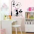 SWST-005 Love Cats Wall Decor Art Adhesive Sticker - Perfect Christmas Gift!
