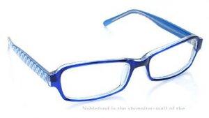 Korean New Blue Checkered Emo Fashion Glasses