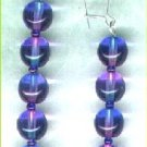 "Bicoloured Glass Drop Beaded Earrings ""Sapphire & Amethyst"" - PreciousThings.ecrater.com"