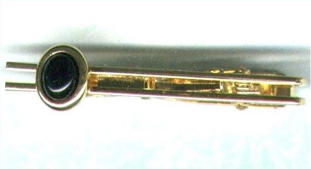 Men's Black Onyx Gemstone Tieclip - PreciousThings.ecrater.com