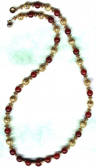 Handcrafted Carnelian Filigree Gemstone Beaded Necklace - PreciousThings.ecrater.com