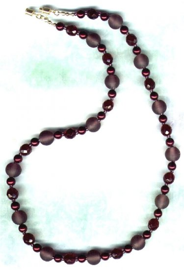 "Handmade Glass Beaded Necklace ""Forest Fruiits"" - PreciousThings.ecrater.com"