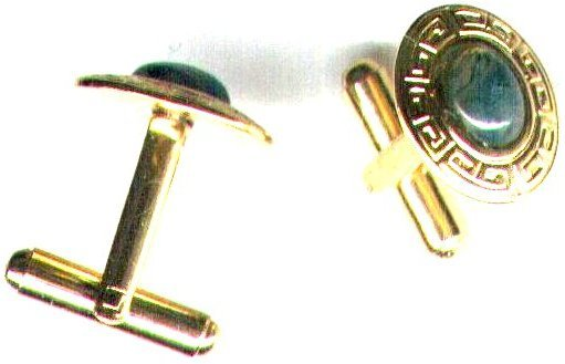 Men's Moss Agate Gemstone Cufflinks - PreciousThings.ecrater.com