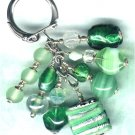 "Handmade Sweetie Box Cluster Beaded Keyring/Handbag Charm ""Sour Apples"" - PreciousThings.ecrater.com"