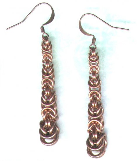 Handcrafted Tapered Byzantine Drop Earrings - PreciousThings.ecrater.com
