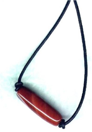 Men's Red Agate Barrel Gemstone Beaded Necklace - PreciousThings.ecrater.com