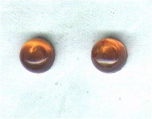 Amber Gemstone & Sterling Silver 6mm Stud Earrings - PreciousThings.ecrater.com
