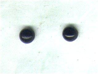 Black Onyx Gemstone & Sterling Silver 4mm Stud Earrings