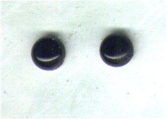 Black Onyx Gemstone & Sterling Silver 6mm Stud Earrings - PreciousThings.ecrater.com