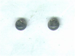 Moss Agate Gemstone & Sterling Silver 4mm Stud Earrings - PreciousThings.ecrater.com