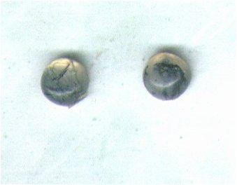 Moss Agate Gemstone & Sterling Silver 6mm Stud Earrings - PreciousThings.ecrater.com