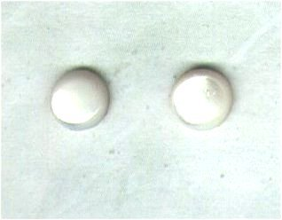 Mother-of-Pearl Gemstone & Goldfilled 6mm Stud Earrings - PreciousThings.ecrater.com
