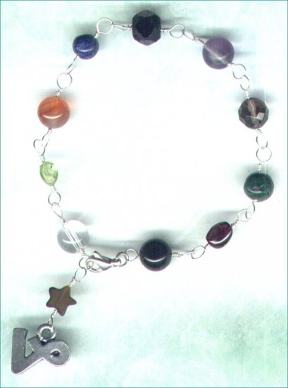 "Handcrafted Gemstone Bracelet with Zodiac Charm ""Capricorn"" - PreciousThings.ecrater.com"