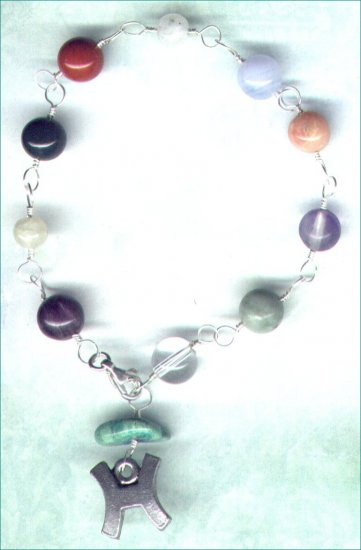 "Handcrafted Gemstone Bracelet with Zodiac Charm ""Pisces"" - PreciousThings.ecrater.com"