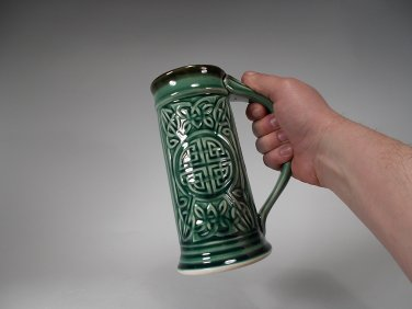 Green Celtic Beer Mug Stein