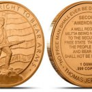 "1oz "" 2ND AMENDMENT "" .999 FINE COPPER ROUND"