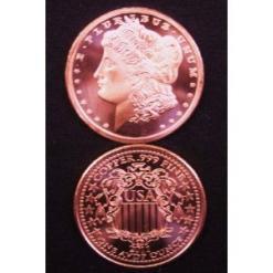2012 1 OZ Morgan Design Copper Round