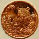 2012 1 OZ Panda Design Copper Round
