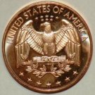 1 OZ Quarter Design Copper Round