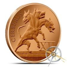 Cerberus 1 oz Copper Round | The 12 Labors of Hercules