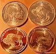1 OZ Indian-Buffalo Copper Round