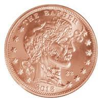 CONTAINED � Zombucks� The Barber 1 oz Copper Round