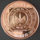 Marijuana Legalize It – Hit It 1 oz copper round
