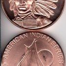 1 OZ Copper Indian Series #1 Round