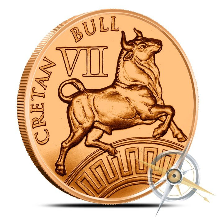 Cretan Bull 1 oz Copper | The 12 Labors of Hercules