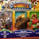 Skylanders Giants Golden Dragonfire Canno 3 pack RARE!