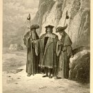 The Oyster & Its Claimants, Gustave Dore 126 year old antique engraving