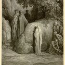 The Punishment of Gluttony, Gustave Dore, 126 year old antique engraving