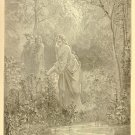 Dante's Vision of Leah, Gustave Dore, 126 year old antique engraving