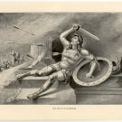 The Death of Alcibiades, 108 year old original antique print