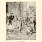 Albert Durer's Wedding, 120 year old original antique print
