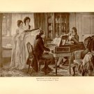 Sheridan at the Linleys', 100 year old original antique print