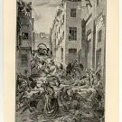 Massacre of the Mamelukes, 108 year old original antique print