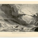 Destruction of Cambyses' Army by a Sandstorm, 108 year old original antique print
