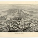 The Festive Place of Olympia, 108 year old original antique print