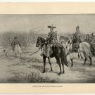 Daimios Hunting for the Emperor Go-daigo, original antique art print