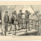 Officers of the Naniwa Directing the Sinking of the Kowshing, original antique art print