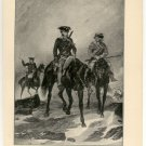 Washington's Return from the French Forts, original antique art print