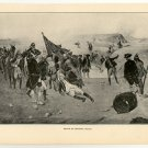 Death of General Wolfe, American Revolutionary War, original antique art print