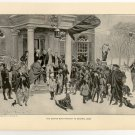 The Boston Boys Protest to General Gage, original antique art print