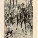 Grant Directing the Union Advance through the Wilderness, original antique art print