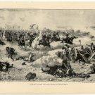 Sheridan Leading the Final Charge at Cedar Creek, original antique art print